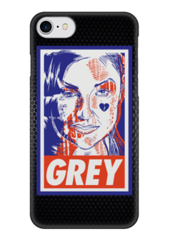 "Чехол для iPhone 7 глянцевый ""Саша Грей (Grey)"" - obey, grey, саша грей, sasha grey"