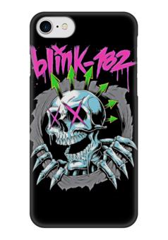 """Чехол для iPhone 7 глянцевый """"Blink 182 band"""" - punk rock, панк, anarchy, анархия, blink 182"""