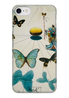 "Чехол для iPhone 7 глянцевый ""Сальвадор Дали / Бабочки"" - бабочка, бабочки, сальвадор дали, дали, иллюстрация, сюрреализм, salvador dali, dali, butterflies"