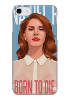 """Чехол для iPhone 7 глянцевый """"Lana Del Rey"""" - лана дель рей, lana del rey"""