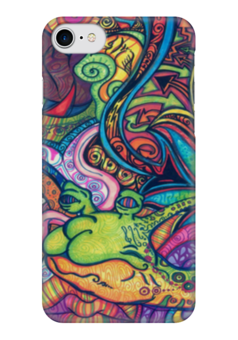 "Чехол для iPhone 7 глянцевый ""graffiti"" - граффити, ярко, краски, graffiti, bright"