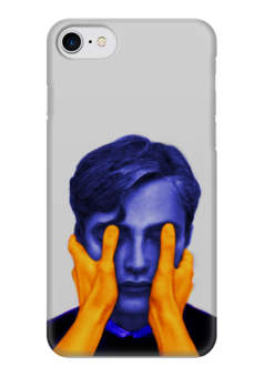"Чехол для iPhone 7 глянцевый ""Blue and Orange"" - digital, blue, digital art, men, people"