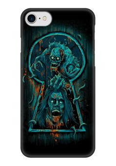 """Чехол для iPhone 7 глянцевый """"Art Horror"""" - skull, череп, кровь, blood, ужасы"""