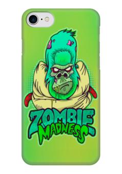 "Чехол для iPhone 7 глянцевый ""Zombie Madness"" - арт, zombie, зомби, обезьяна, горилла"