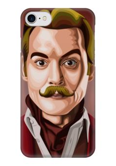 "Чехол для iPhone 7 глянцевый ""Джонни Мордекай Депп"" - джонни депп, johnny depp"