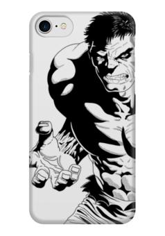 "Чехол для iPhone 7 глянцевый ""Халк (Hulk)"" - комиксы, hulk, мстители, avengers, марвел"