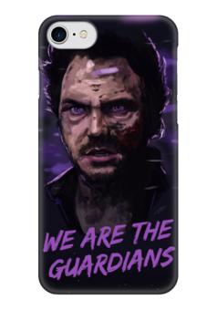 """Чехол для iPhone 7 глянцевый """"Star lord"""" - марвел, комиксы, стражи галактики, звездный лорд, guardians of the galaxy"""
