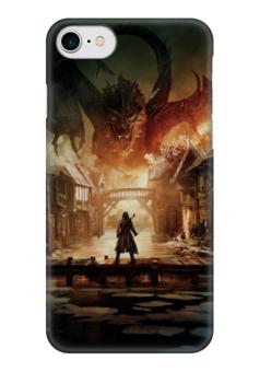 "Чехол для iPhone 7 глянцевый ""Хоббит"" - дракон, кино, властелин колец, hobbit, фродо"
