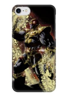 "Чехол для iPhone 7 глянцевый ""Танос Арт1"" - lovecomics, комиксы, суперзлодей, марвел, танос"