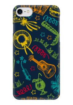 "Чехол для iPhone 7 глянцевый ""Карнавал"" - гитара, шляпа, фестиваль, карнавал, коктейль"