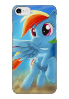 """Чехол для iPhone 7 глянцевый """"Радуга Дэш"""" - rainbow dash, my little pony, friendship is magic, радуга дэш"""