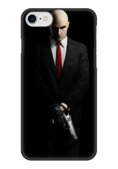 "Чехол для iPhone 7 глянцевый ""hitman"" - hitman, хитман, хитмэн, агент 47"