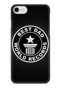 """Чехол для iPhone 7 глянцевый """"Best Dad (Лучший папа)"""" - папа, отец, dad, батя, папуля"""