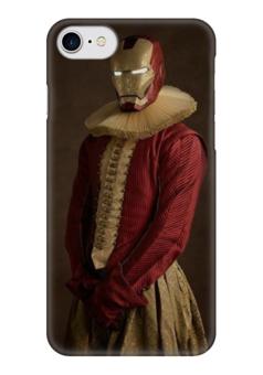 """Чехол для iPhone 7 глянцевый """"Super Flamands"""" - железный человек, iron man, super flamands"""