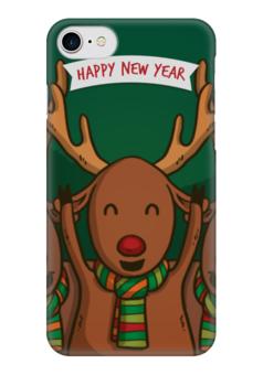 """Чехол для iPhone 7 глянцевый """"С Новым годом!"""" - праздник, новый год, радость, новогодний, денис гесс"""