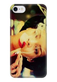 """Чехол для iPhone 7 глянцевый """"Rihanna"""" - курить, rihanna, рианна"""