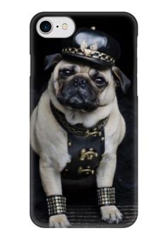"Чехол для iPhone 7 глянцевый ""Pugs "" - pug, мопс, pugs, pugpolice"