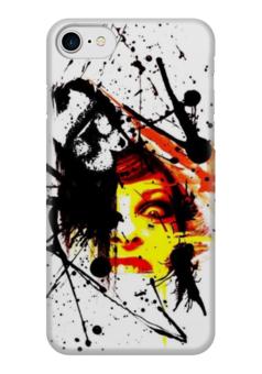"""Чехол для iPhone 7 глянцевый """"треш полька"""" - тату, треш полька, trash polka"""