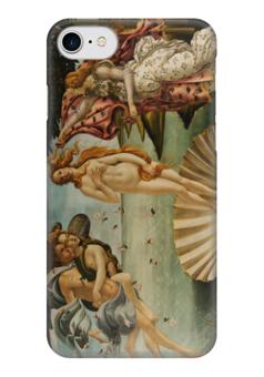 """Чехол для iPhone 7 глянцевый """"Рождение Венеры (Сандро Боттичелли)"""" - картина, боттичелли"""