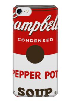 "Чехол для iPhone 7 глянцевый ""Campbell's Soup (Энди Уорхол)"" - поп арт, pop art, andy warhol"