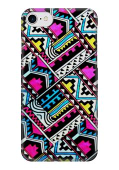 """Чехол для iPhone 7 глянцевый """"Aztec """" - узор, ярко, абстракция, стильно, ацтеки"""