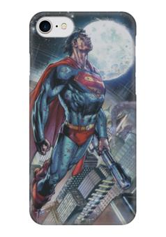 "Чехол для iPhone 7 глянцевый ""Супермен (Superman)"" - комиксы, superman, супермэн, dc comics"