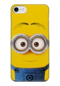 """Чехол для iPhone 7 глянцевый """"Миньон"""" - жёлтый, миньон, гадкий я, minion"""