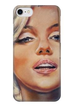 """Чехол для iPhone 7 глянцевый """"Мерилин """" - ретро, монро, мэрилин монро, marilyn monroe"""