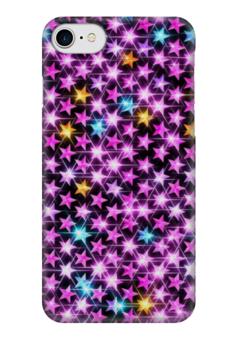 """Чехол для iPhone 7 глянцевый """"Стразы звёзды"""" - гламур, glam, стразы"""