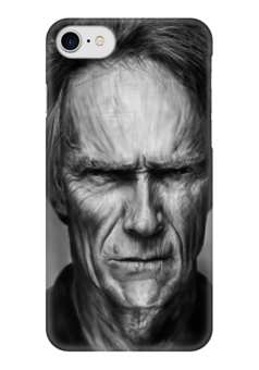 """Чехол для iPhone 7 глянцевый """"Клинт Иствуд / Clint Eastwood"""" - любовь, кино, портрет, clint eastwood, клинт иствуд"""