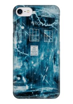 "Чехол для iPhone 7 глянцевый ""Тардис"" - абстракция, доктор кто, тардис"