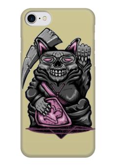 """Чехол для iPhone 7 глянцевый """"Rat Skull"""" - skull, череп, death, крыса, rat"""