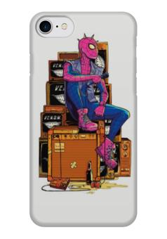 """Чехол для iPhone 7 глянцевый """"Человек-паук"""" - рок, marvel, spider man, человек-паук"""