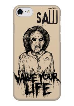 """Чехол для iPhone 7 глянцевый """"Saw/Пила"""" - кино, пила, saw, смерть, ужасы"""