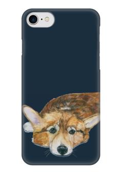 "Чехол для iPhone 7 глянцевый ""Моя любимая собака"" - собака, рыжий, корги"