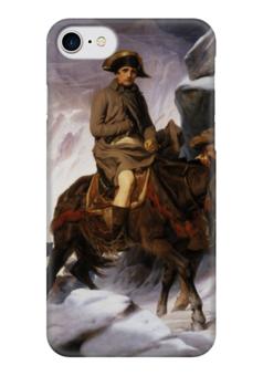 """Чехол для iPhone 7 глянцевый """"Переход Наполеона через Альпы"""" - картина, наполеон, деларош"""