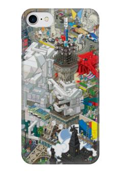 """Чехол для iPhone 7 глянцевый """"Париж"""" - париж, paris"""