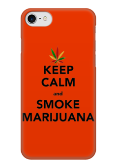 "Чехол для iPhone 7 глянцевый ""Smoke Marijuana"" - keep calm, марихуана, каннабис, marijuana, анаша"