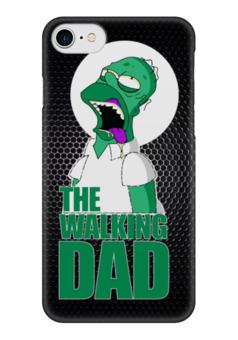"Чехол для iPhone 7 глянцевый ""Walking Dead x Simpsons"" - зомби, пародия, гомер симпсон, ходячие мертвецы, the walking dead"