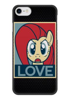 "Чехол для iPhone 7 глянцевый ""Пони (Love)"" - mlp, my little pony, моя маленькая пони"