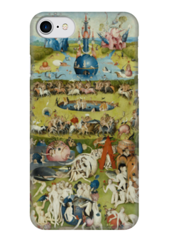 "Чехол для iPhone 7 глянцевый ""Сад земных наслаждений"" - картина, сад, искусство, босх"