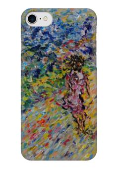 """Чехол для iPhone 7 глянцевый """"Дорога к счастью"""" - красиво, цветы, весна, девушке"""