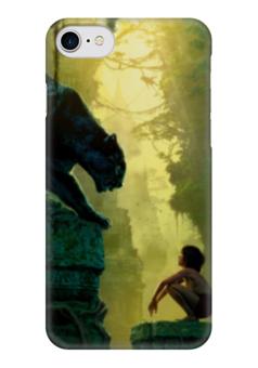 "Чехол для iPhone 7 глянцевый ""Маугли"" - книга джунглей"