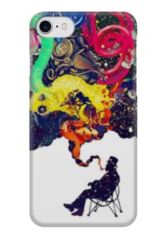 """Чехол для iPhone 7 глянцевый """"Креатив"""" - человек, рисунки, дым, стул, креативное мышление"""