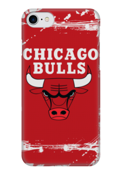 "Чехол для iPhone 7 глянцевый ""Chicago Bulls"" - баскетбол, нба, chicago bulls, чикаго буллз"
