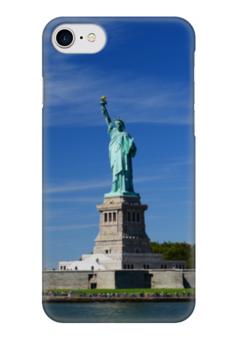 """Чехол для iPhone 7 глянцевый """"Статуя Свободы"""" - нью-йорк, америка, статуя свободы"""