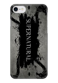 """Чехол для iPhone 7 глянцевый """"Сверхестественное (Supernatural)"""" - арт, сериалы, supernatural, сверхестественное"""