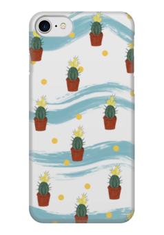 """Чехол для iPhone 7 глянцевый """"Кактусы"""" - цветы, узоры, растения, кактусы"""