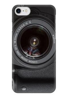 """Чехол для iPhone 7 глянцевый """"Фотоаппарат"""" - foto, фотоаппарат, nikon, canon, зеркальный"""