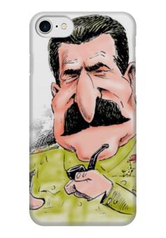 """Чехол для iPhone 7 глянцевый """"Сталин"""" - ссср, ussr, вождь, сталин, stalin"""